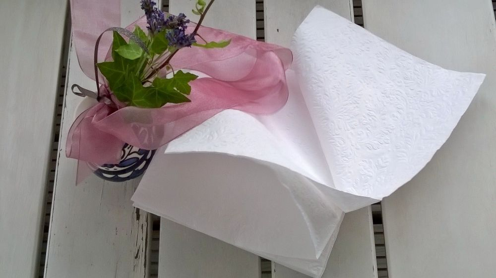 Some wind gently takes the napkins away